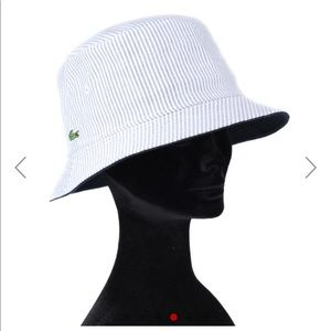 FREE Pretty blue and white striped bucket hat